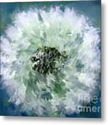 Pursuit Of Happiness Blue White Metal Print