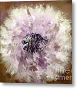 Pursuit Of Happiness Brown White Metal Print