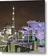 Putra Mosque At Night Metal Print