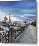 Putra Mosque At Sunset Metal Print