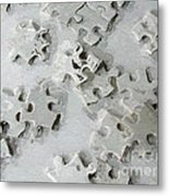 Putting Puzzle Pieces Together Metal Print