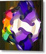 Puzzle Lamp Metal Print