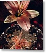 Puzzled Flower Metal Print