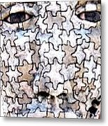 Puzzled Man No2 Metal Print
