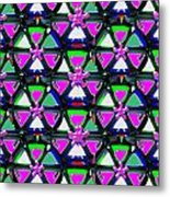 Pyramid Dome Triangle Purple Elegant Digital Graphic Signature   Art  Navinjoshi  Artist Created Ima Metal Print