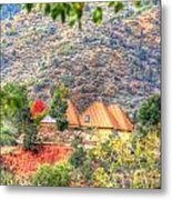 Pyramid Houses In Fall Metal Print