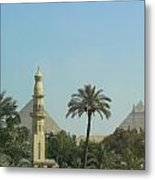Pyramids And The Minaret Metal Print