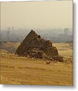 Pyramids Of Giza 12 Metal Print