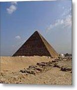 Pyramids Of Giza 30 Metal Print