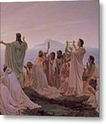 Pythagoreans' Hymn To The Rising Sun Metal Print