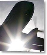 Q400 Silhouette Metal Print