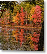Quabbin Reservoir Fall Foliage Metal Print