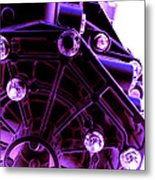 Quadrent Purple Metal Print