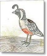 Quail Bird Metal Print