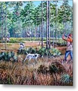 Quail Hunting...a Southern Tradition. Metal Print