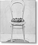 Quails Eggs On A Chair Metal Print