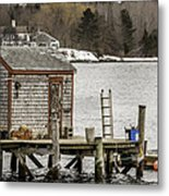 Quaint Fishing Shack New Hampshire Metal Print