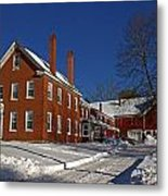 Quaint Maine Winter Farm Metal Print