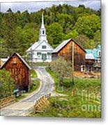 Quaint Vermont Village Metal Print