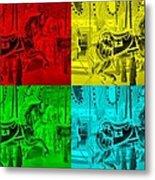 Quad Color Horses Metal Print