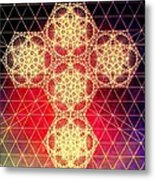 Quantum Cross Hand Drawn Metal Print by Jason Padgett