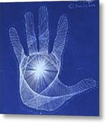 Quantum Hand Through My Eyes Metal Print
