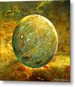 Quantum Soul...orb Of Light Metal Print by Robin Moline