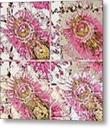 Quatro Floral - 22a Metal Print