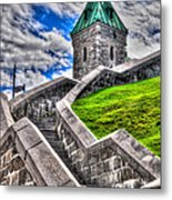 Quebec City Fortress Gates Metal Print