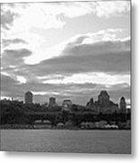Quebec City Panorama B N W Metal Print