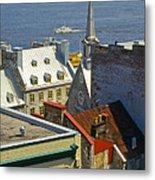 Quebec Lower Town Metal Print
