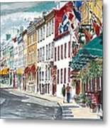 Quebec Old City Canada Metal Print by Anthony Butera