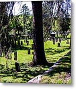 Quechee Vermont Cemetary Metal Print