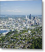 Queen Anne Hill, Lake Union, City Metal Print