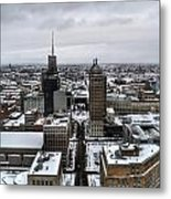 Queen City Winter Wonderland After The Storm Series 001 Metal Print