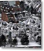 Queen City Winter Wonderland After The Storm Series 0028b Metal Print