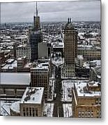 Queen City Winter Wonderland After The Storm Series 004 Metal Print