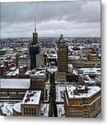 Queen City Winter Wonderland After The Storm Series 007 Metal Print