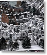 Queen City Winter Wonderland After The Storm Series0028 Metal Print
