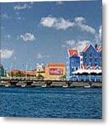 Queen Emma Bridge Open Curacao Metal Print