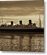 Queen Mary In Sepia Metal Print