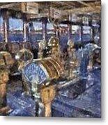 Queen Mary Ocean Liner Bridge 01 Photo Art 02 Metal Print