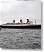 Queen Mary Ocean Liner Full Starboard Side 03 Long Beach Ca Metal Print
