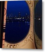 Queen Mary Port Hole Night  Metal Print
