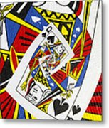 Queen Of Spades Collage Metal Print