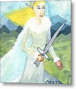 Queen Of Swords Metal Print