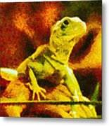 Queen Of The Reptiles Metal Print by Ayse Deniz