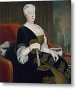 Queen Sophia Dorothea Of Hanover Oil On Canvas Metal Print