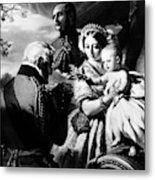 Queen Victoria & Son Metal Print