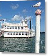 Queen Victoria Ferry And Seagull Metal Print
